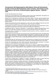 Convenzione sull'eliminazione di ogni forma di discriminazione nei confronti della donna